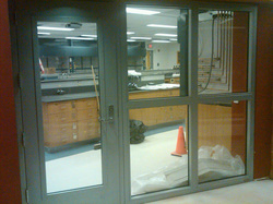 PSU Behrend Campus – Otto Behrend Science Center      Product – Vetrotech VDS 120 min Heat Barrier Fire Rated Frames   GC – Perry Construction, Erie PA   Customer/Glass & Glazier – Corporate Glass, Erie PA